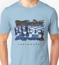 BLACK AND WHITE GEOMETRIC OUTDOOR CHESS BOARD GAME  Unisex T-Shirt