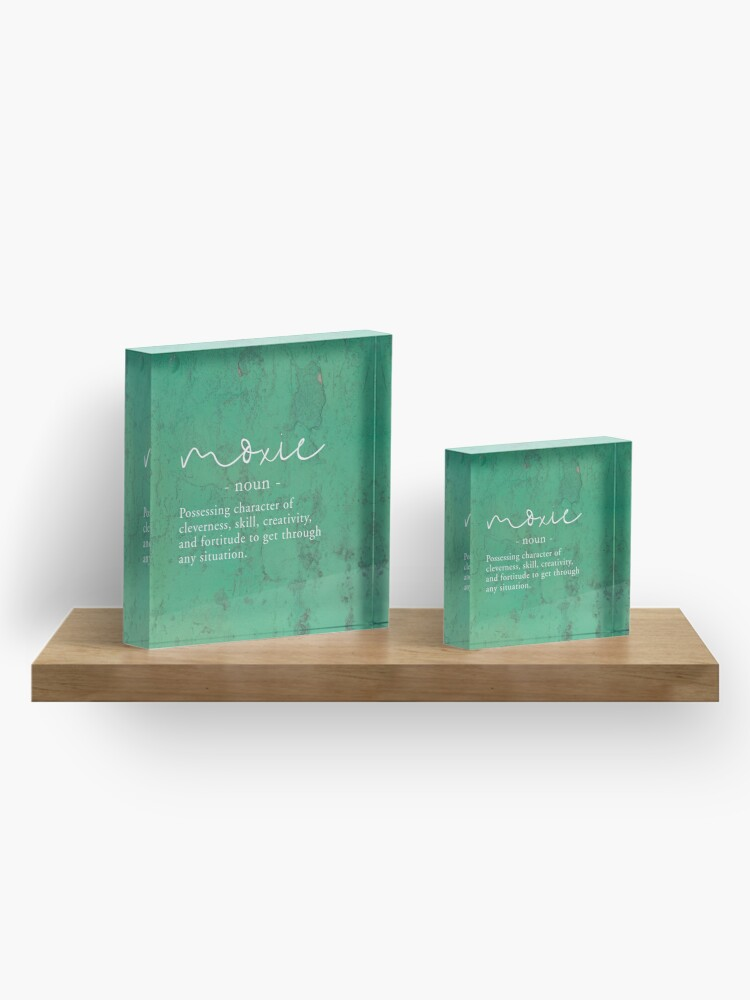 Alternate view of Moxie Definition - Green Texture Acrylic Block