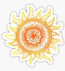 Sonnen Mandala Sticker