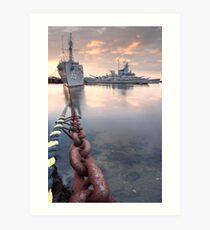 Battleship Cove Art Print