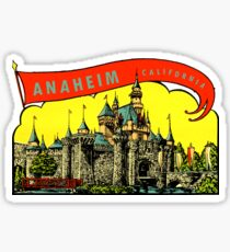 Anaheim California Vintage Travel Decal Sticker