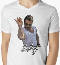 Salt Bae Meme Salty Mens V-Neck T-Shirt