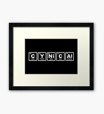 Cynical - Periodic Table Framed Print