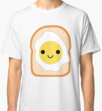 Bread with Egg Emoji Happy Smiling Face Classic T-Shirt
