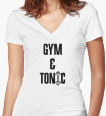 Funny Gym- Gym & Tonic Women's Fitted V-Neck T-Shirt