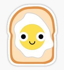Bread with Egg Emoji Shock and Surprise Sticker