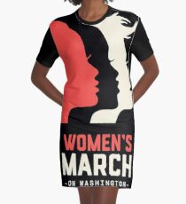 Women's March on Washington 2017 Official Graphic T-Shirt Dress