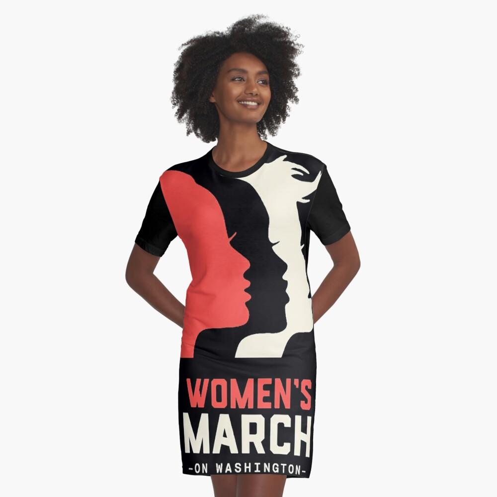 Frauen März auf Washington 2017 Offizieller T-Shirt Kleid