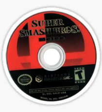 SUPER SMASH BROS MELEE DISK STICKER Sticker