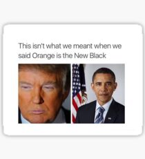 Trump vs Obama Sticker