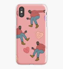 Drake Valentine (pink background) iPhone Case