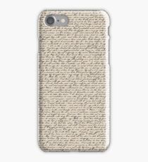 Literature in Print: Shakespeare's Sonnets iPhone Case/Skin
