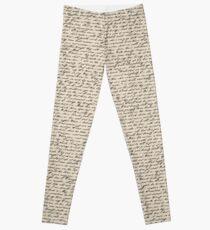 Literature in Print: Shakespeare's Sonnets Leggings
