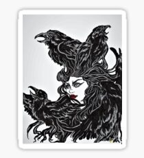Raven Haired Sticker
