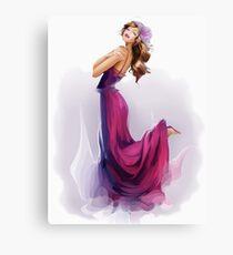 girl dances a tango Canvas Print