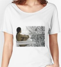 """Snowstorm"" Women's Relaxed Fit T-Shirt"