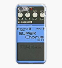 Boss Pedal Series - Light Blue - Super Chorus iPhone Case/Skin