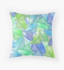 Placer precious stones, yellow , green , blue . Throw Pillow