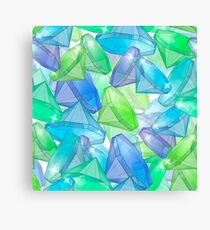 Placer precious stones, yellow , green , blue . Canvas Print