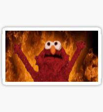 Elmo with flames Sticker