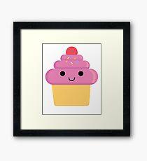 Cupcake Emoji Happy Smiling Face Framed Print