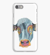 Cute Cow - Don't eat me -  (digistickie) ... by Giselle iPhone Case/Skin