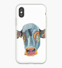 Cute Cow - Don't eat me -  (digistickie) ... by Giselle iPhone Case