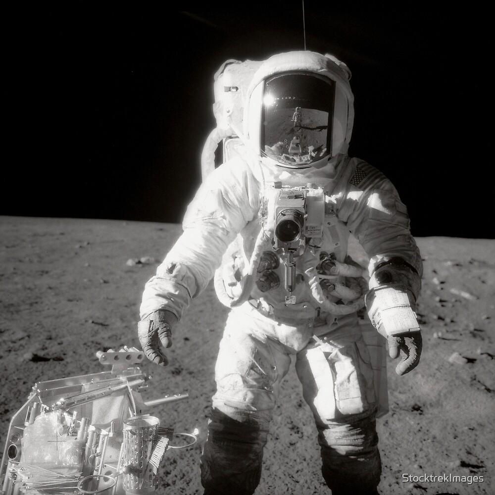 Apollo moonwalk. by StocktrekImages