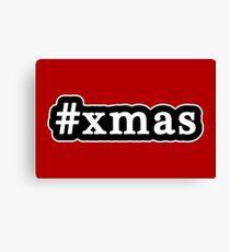 Xmas - Christmas - Hashtag - Black & White Canvas Print