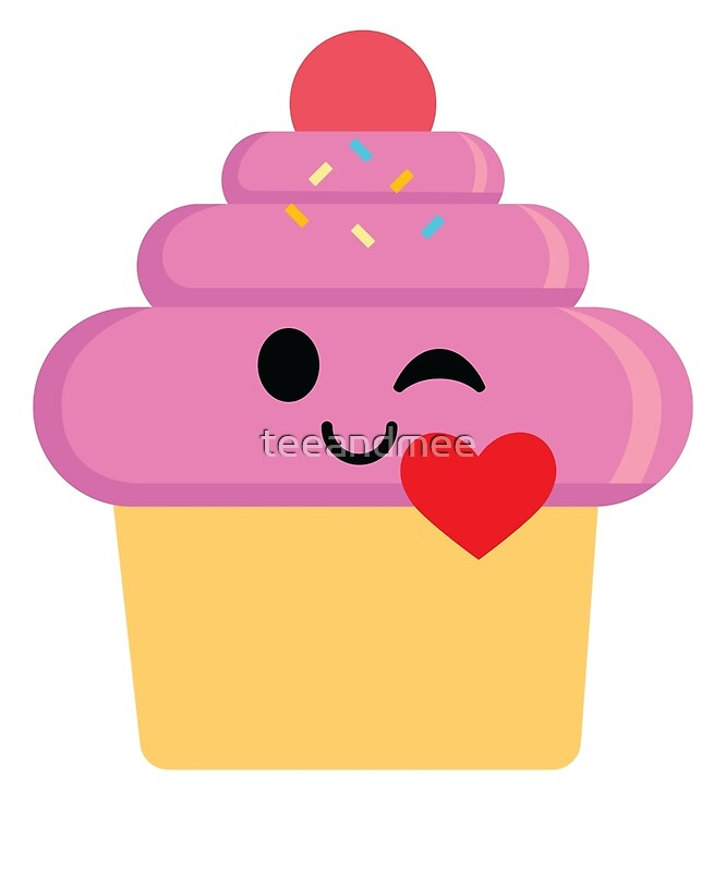 cupcake emoji for iphone quot cupcake emoji flirt and quot by teeandmee redbubble 6434