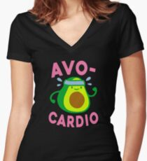 Avocardio Women's Fitted V-Neck T-Shirt