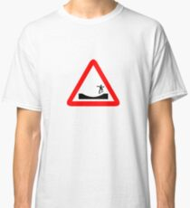 Skater in a traffic Sign  Classic T-Shirt