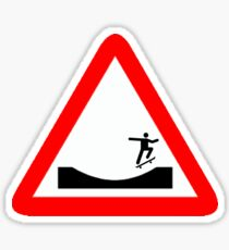 Skater in a traffic Sign  Sticker