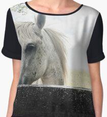 White Horse Chiffon Top