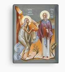 St Mary of Egypt and St Zosimas Canvas Print