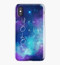 You Only Live Once watercolor galaxy iPhone Case/Skin