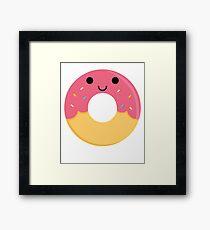 Donut Emoji Happy Smiling Face Framed Print