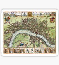 Plan of London - 1688 Sticker