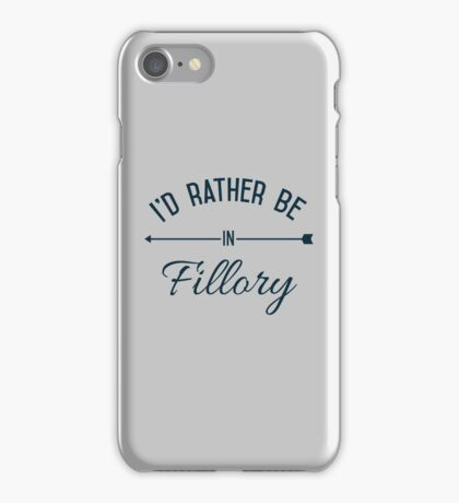 I'd Rather Be In Fillory iPhone Case/Skin