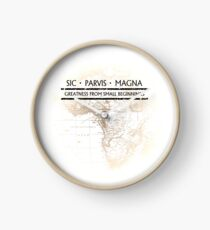 Uncharted - SIC PARVIS MAGNA Clock