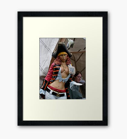 Female Bukaneer: No soup but your head on a plate! Framed Print