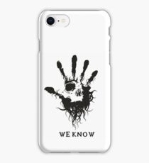 Skyrim - we know iPhone Case/Skin