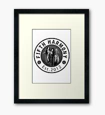 FIFTH HARMONY CIRCLE GREY PHOTOSHOOT Framed Print