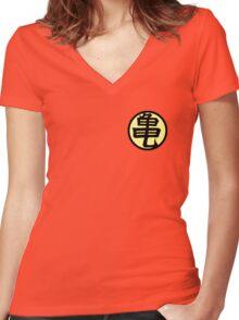 Kame house dojo gi Women's Fitted V-Neck T-Shirt