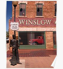 Standing on the Corner in Winslow Arizona Poster