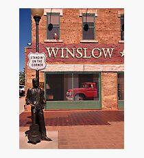 Standing on the Corner in Winslow Arizona Photographic Print