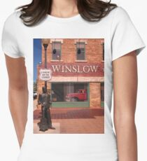 Standing on the Corner in Winslow Arizona Fitted T-Shirt