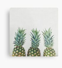 Pineapple Trio Metal Print