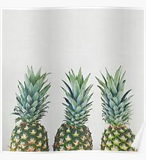 Pineapple Trio Poster