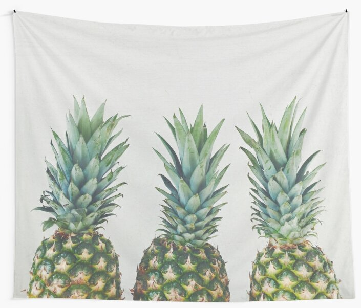 Quot Pineapple Trio Quot Wall Tapestries By Cassia Beck Redbubble